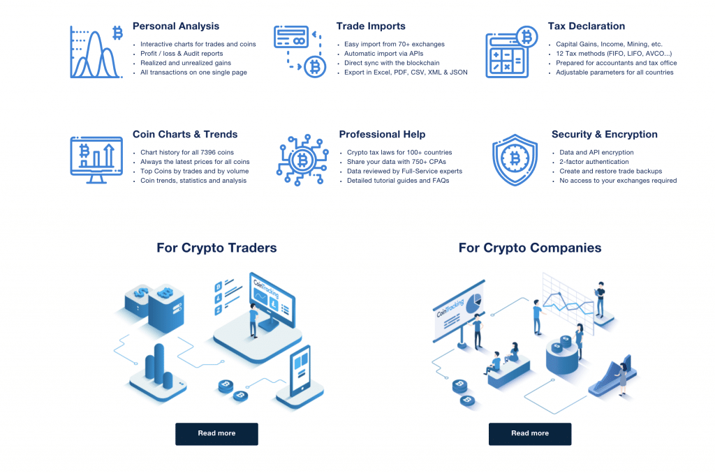 Main features of CoinTracking