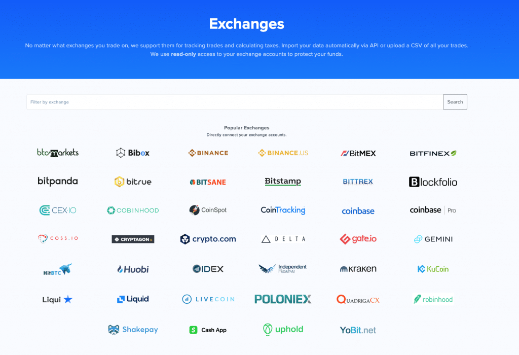 Cointracker exchange import