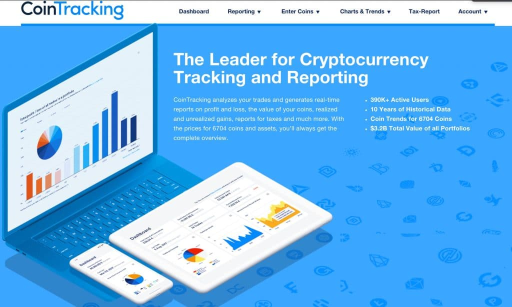 CoinTracking cryptocurrency portfolio tool
