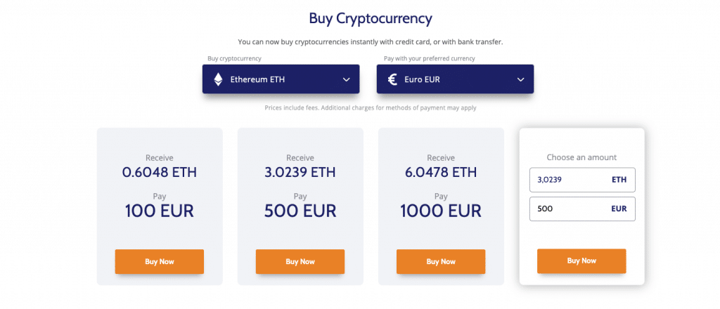 Buy BTC with a credit car or debit card at Coinmama