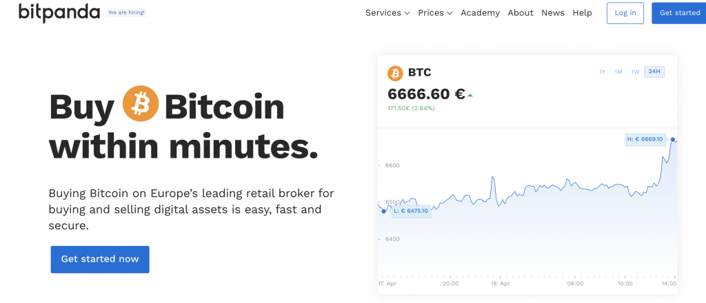 Bitpanda buy Bitcoin instantly with a card
