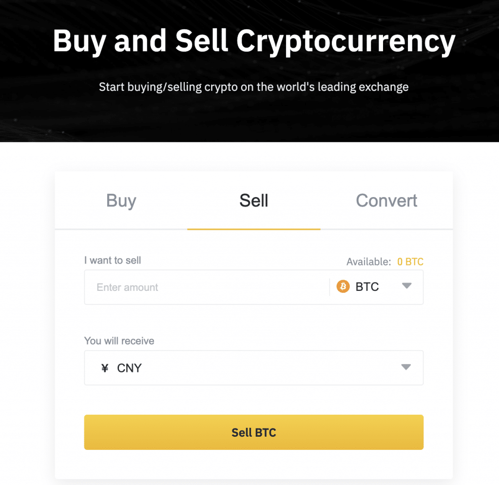 Buy and sell cryptos on Binance with your card