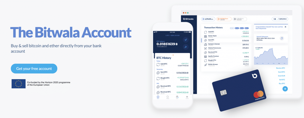 Bitwala another German crypto friendly bank