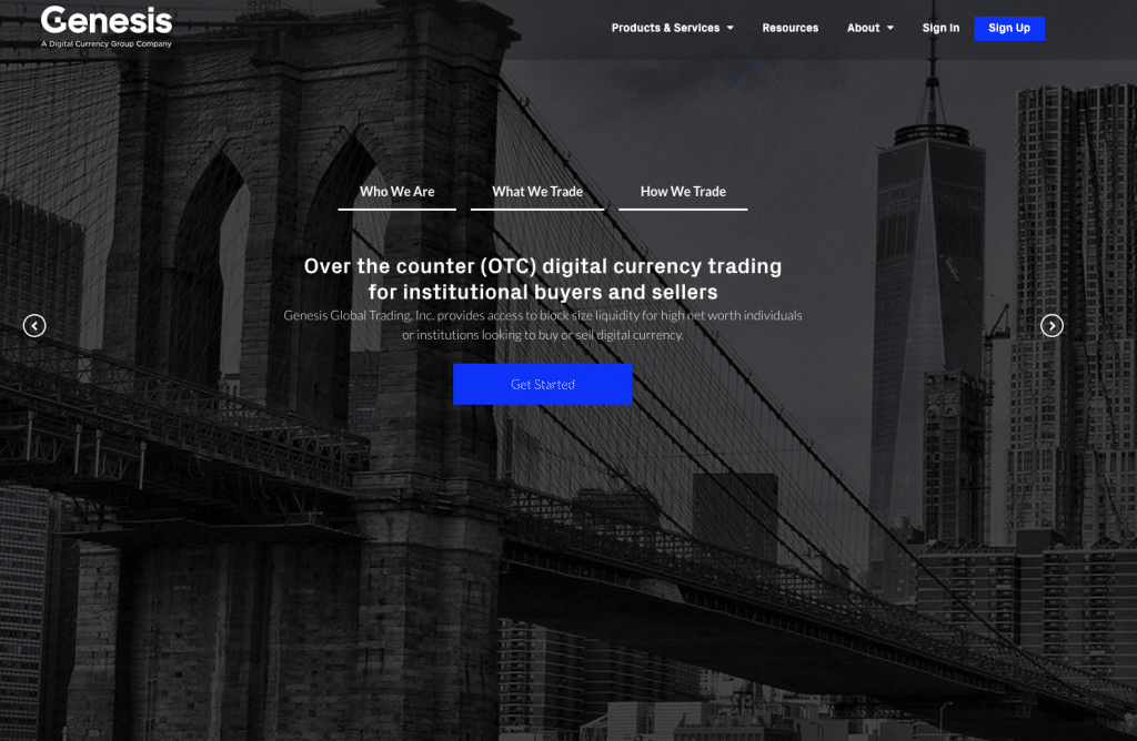 Genesis Trading OTC Broker for Bitcoin and other cryptocurrencies