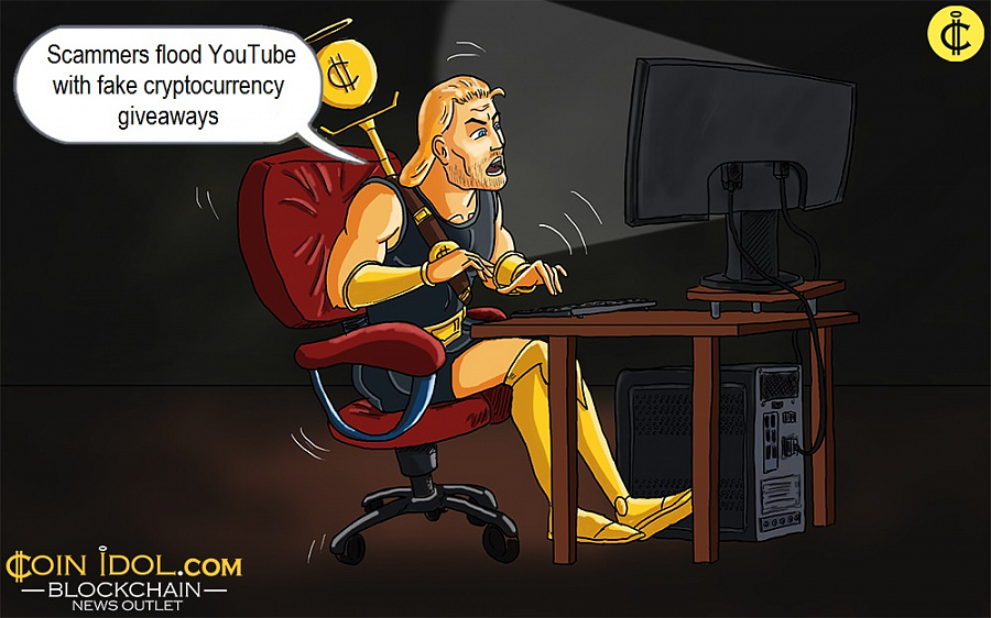 Scammers flood YouTube with fake cryptocurrency giveaways