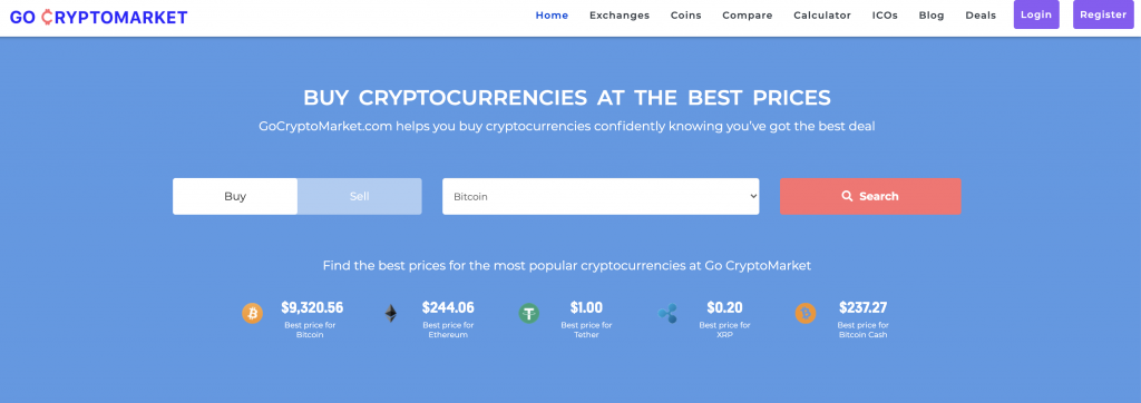 Find the cryptocurrency exchanges that trades your favourite cryptocurrencies at Go CryptoMarket
